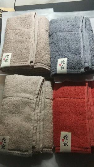 三利 纯棉素色良品毛巾4条装 100g/条 A类标准 34*76cm 婴儿可用 晒单图