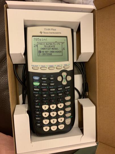 德州仪器(Texas Instruments)TI-84 PLUS 黑白机编程图形计算器AP ACT SAT出国留学国际学校考试计算机 晒单图