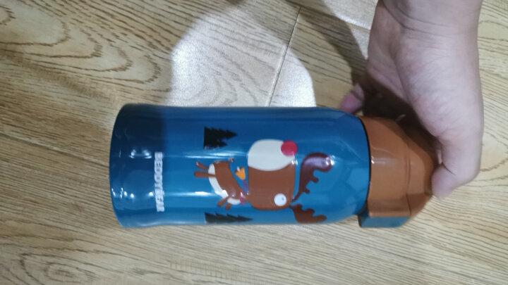 杯具熊儿童便携保温杯带吸管双盖两用316不锈钢内胆男女宝宝幼儿水瓶吸管保温水壶学生大容量户外直饮水杯 316浮雕鸡 晒单图