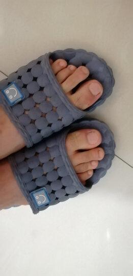 南极人凉拖鞋男女居家情侣洗澡漏水浴室拖鞋 18001 玫红色38-39码 晒单图