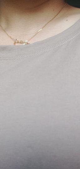 卡玛娅 纯棉修身短袖T恤女韩版夏装上衣体恤 荧光绿 M  (85-95斤) 晒单图
