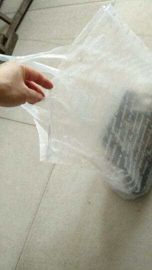 加厚全新塑料手提袋 法文 烘培食品打包包装袋 服女装化妆品礼品胶袋子 粉红色 45*35 50个 晒单图