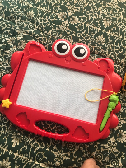 澳贝(AUBY)益智玩具儿童宝宝大号磁性美术双面彩色画板写字板小蟹艺术涂鸦板464405DS 晒单图