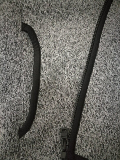 Baleno/班尼路 秋冬摇粒绒开衫布绒连帽卫衣男 青年运动拉链外套 深雪灰16E M 晒单图
