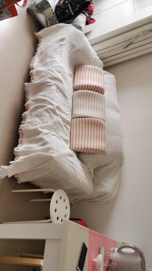 原素品制沙发巾盖布防滑沙发套全包欧式沙发垫套装组合沙发四季通用沙发布全盖 俏粉色菱形格子款 180*340cm适合大三人全盖 晒单图