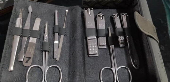 777指甲刀套装 指甲剪钳修容组合11件装TS-1537鳄鱼纹浅灰 晒单图