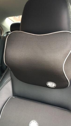 吉吉(GiGi)汽车头枕 GT-1327竹炭记忆棉行车枕 车用护颈枕 头靠枕黑色 晒单图