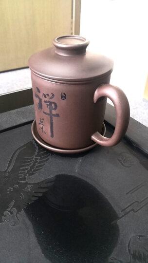 丁山 宜兴紫砂壶 办公泡茶紫砂杯整套茶具套装茶壶茶杯全手工水杯子 B1 四件套光杯 晒单图