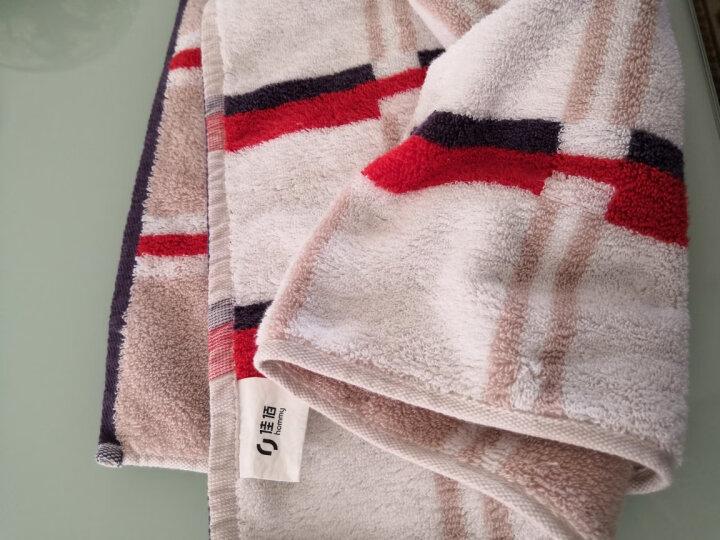 佳佰毛巾四条礼袋套装全棉精梳棉加厚吸水速干英格兰风情(红、蓝各二条) 晒单图
