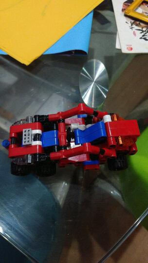 邦宝积木拼插儿童玩具 小颗粒4岁以上男孩女孩玩具拼装积木高科回力车赛车跑车模型  铁骑行者6963 晒单图