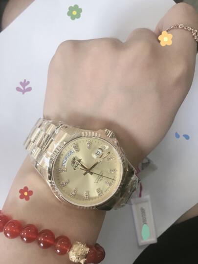 英纳格(ENICAR)瑞士原装进口手表 精英系列金盘金色表链双日历显示自动机械男表3169/50/330P 晒单图