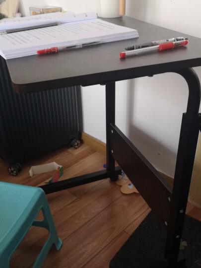 倍方床边电脑桌 双面板单腿白底黑花纹桌 可移动升降桌 懒人桌学校宿舍床边桌笔记本电脑桌 晒单图