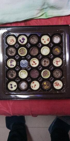 怡浓浪漫满屋纯脂手工黑巧克力礼盒生日糖果礼物送女友325g 晒单图
