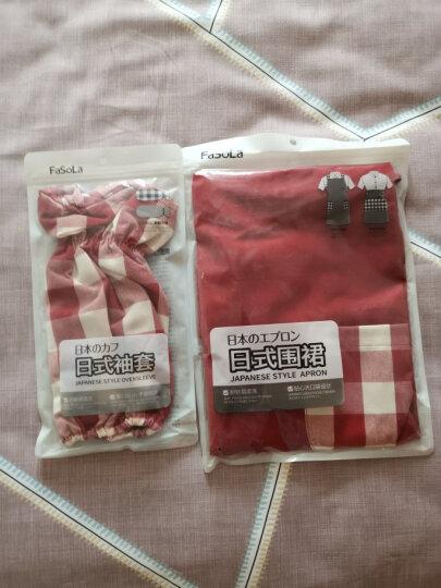 FaSoLa 围裙女 厨房防油防污袖套 罩衣 家居防护罩工作服 红色背带式围裙 晒单图