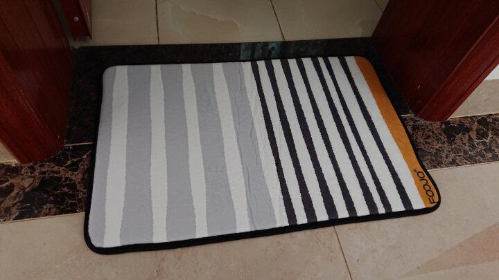 富居珊瑚绒印花地垫防滑门垫浴室厨房脚垫40*60cm现代条纹 晒单图