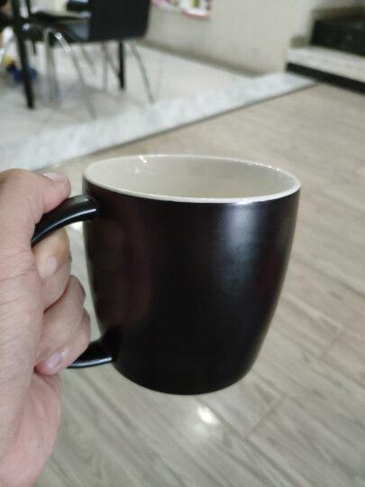 原创木柄陶瓷杯 水杯 创意马克杯 咖啡杯 牛奶杯 情侣杯 对杯 大号办公杯带盖勺子茶隔过滤 定制订做 16盎司H2o亮红+竹盖+专属勺 晒单图