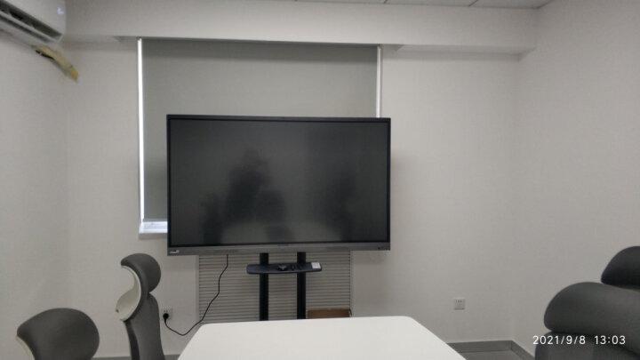 NB (60-100英寸)移动电视挂架视频会议移动推车落地支架激光电视架显示屏教学一体机通用架子皓丽希沃白 晒单图
