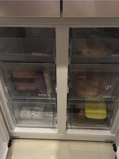 松下(Panasonic)498升十字对开 无边框玻璃面板 变频风冷无霜 银离子抗菌 清雅银NR-DE49CP1-S 晒单图