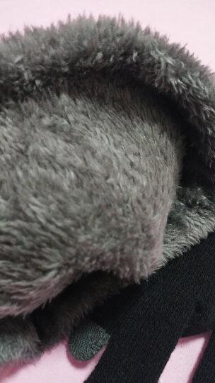 俞兆林 帽子男冬保暖加绒毛线帽女加厚针织围脖套骑行雷锋帽户外冷滑雪防风棉帽 羊毛混纺套帽 灰色 晒单图