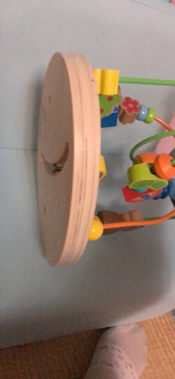 德国(Hape)串珠绕珠儿童玩具早教启蒙益智玩具1-3-6岁木制男孩女孩宝宝生日礼物泡泡乐 6个月+ E1801 晒单图