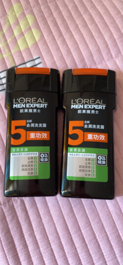 欧莱雅 (LOREAL) 男士去屑洗发露(氨基酸养护)200ml(新老包装随机发货) 晒单图