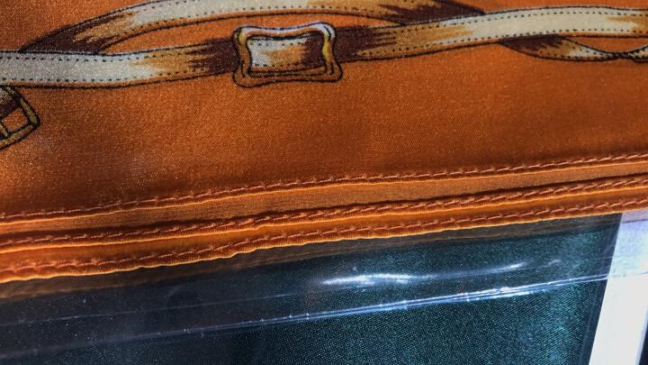 杭丝路 缎面真丝小方巾丝巾女 职业围巾女防晒围脖商务空姐银行52 墨绿花朵 晒单图