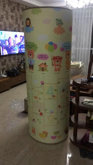 【韩国原装进口】帕克伦爬行垫XPE丝绸布艺环保婴儿爬爬垫泡沫地垫玩具 哈熊一家 200x180x1.7cm 晒单图