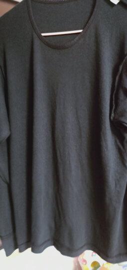 红豆内衣女士秋衣秋裤纯棉套装圆领棉毛衫薄款打底保暖内衣590 黑色 170/95 晒单图