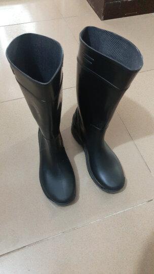 莱尔 食品专用靴厨房卫生靴男女款水鞋高筒耐酸耐碱防滑耐油雨鞋 黑色 39 晒单图