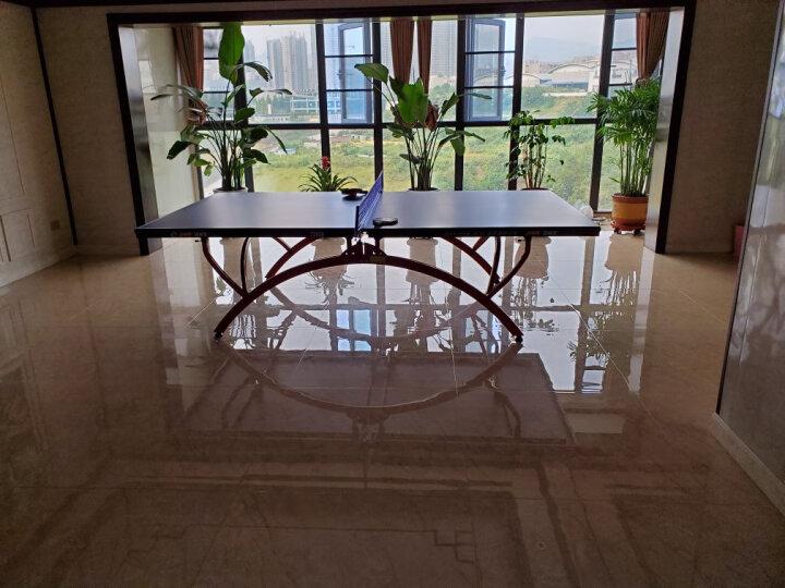 【赞商品】红双喜(DHS) 乒乓球台 可折叠 室内比赛型T2828乒乓球桌 内附乒乓拍+乒乓球+网架 晒单图
