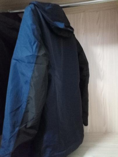 美骆世家冲锋衣男女款户外棉服三合一冲锋衣 加绒加厚保暖潮牌两件套防风防雨透气登山 浅紫/女 3XL 晒单图