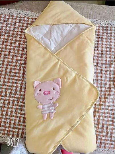 威尔贝鲁(WELLBER) 新生婴儿抱被春秋纯棉宝宝被子新生儿包巾婴儿秋冬厚棉款抱毯 小狗款 厚棉(建议温度15-20) 晒单图