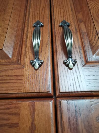 固特GUTE固特欧式柜门五金拉手抽屉衣柜家具小拉手橱柜门把手 白琥珀 孔距96mm 晒单图