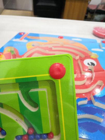 第1教室 3d魔方迷宫玩具重力迷宫球走珠男孩早教益智力儿童礼物 透明蓝(迷你版) 晒单图