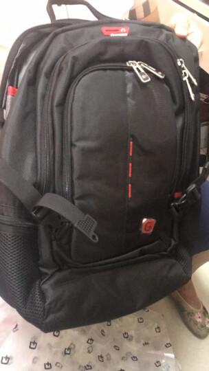 SWISSGEAR电脑包 男双肩背包15.6英寸笔记本包商务旅行休闲学生大容量 SA-9951黑色 晒单图