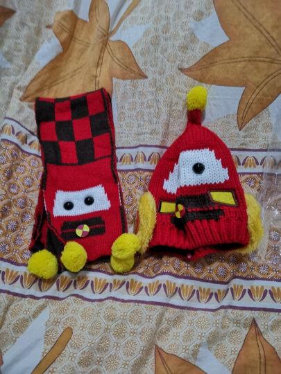 添丝(TIANSI)儿童帽子围脖 宝宝帽子冬季加厚保暖婴儿帽子儿童手套小孩围巾男女童配饰 手套卡通加绒 4个月-3岁 晒单图