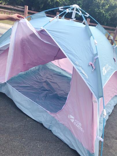 牧高笛(MOBIGARDEN) 户外野营沙滩休闲防风3-4人家用大空间全自动速搭公园帐篷零动 自动经典版-蓝色 晒单图