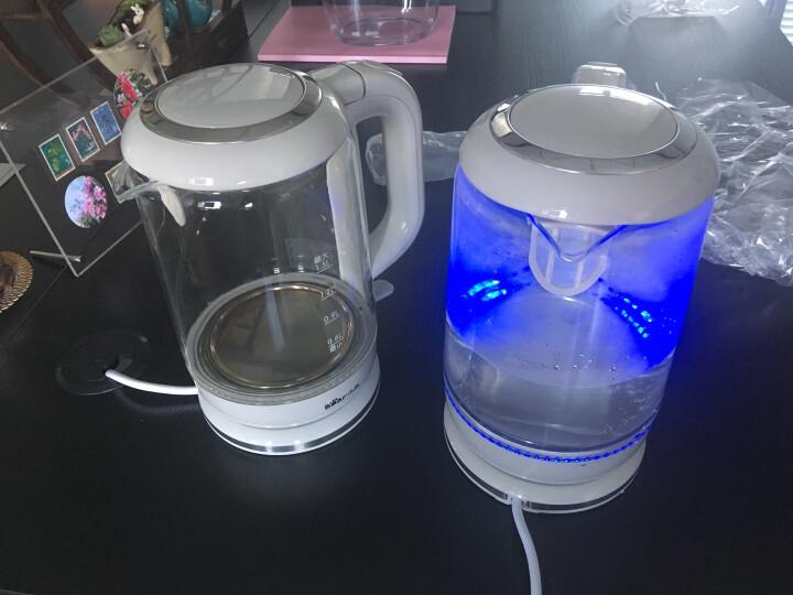 小熊(Bear)电水壶1.5L热水壶烧水壶304不锈钢高硼硅玻璃大容量电热水壶ZDH-A15G2 晒单图