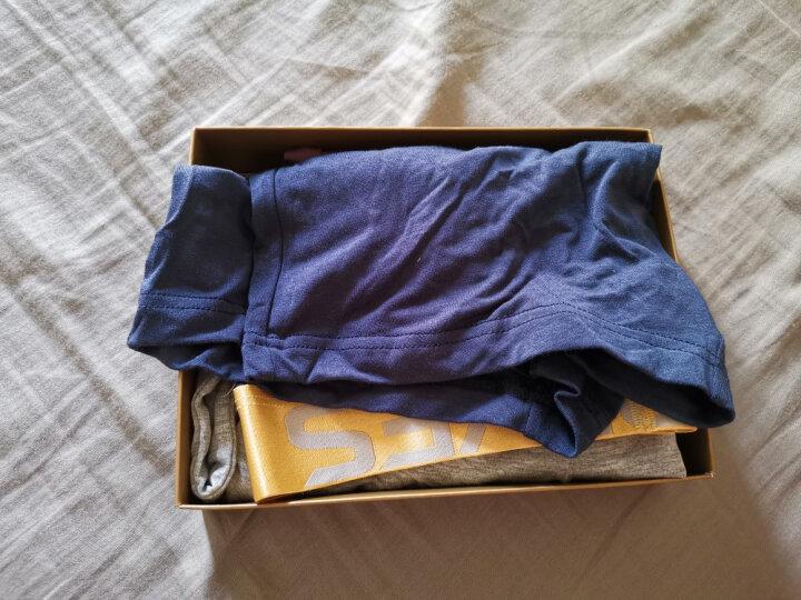 七匹狼男士内裤男大码冰丝平角裤 中腰透气短裤头四角裤 (4条盒装) XL(175/90) 晒单图