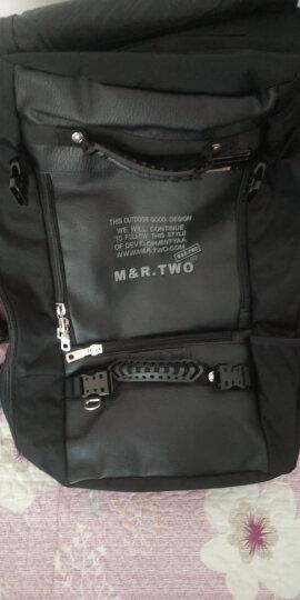 M&R.TWO大容量背包配PU皮潮流休闲双肩包男多功能三用户外出差旅行包书包斜挎行李包笔记本电脑包 黑色超大版五件套 晒单图