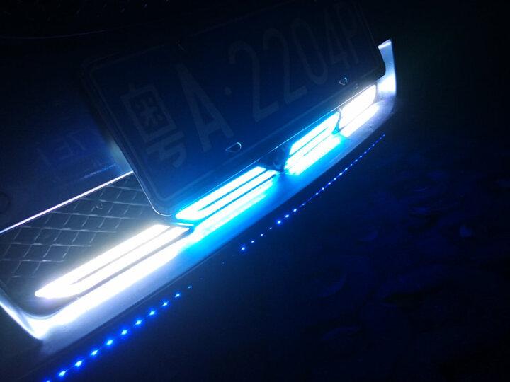海崎 汽车刀锋日行灯 汽车高亮LED日间行车灯防水中网灯刀锋示宽灯叶子板导光日行灯单套 紫色光/1套 现代ix35全新胜达ix45MAcan哈弗锋范h2 晒单图