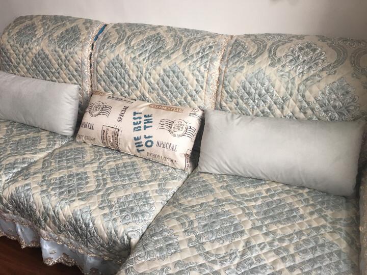 沙发垫套装夏季欧式布艺防滑皮沙发套罩巾坐垫子四季全包飘窗垫 洛克-米黄 定做专拍(联系客服) 晒单图