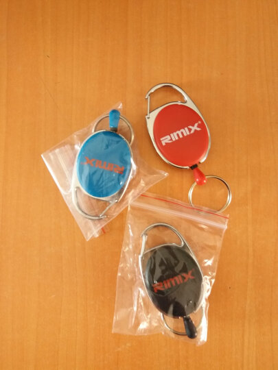 RIMIX 伸缩钥匙圈 男钥匙链 多功能易拉扣腰挂/手机防抢防丢防盗 新品蓝色 晒单图