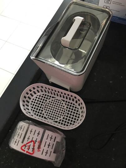 康得森超声波清洗机CDS-100眼镜珠宝首饰清洗器304不锈钢桶600ml分离电源家用 白色 晒单图