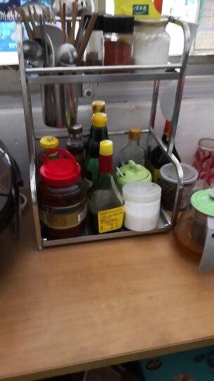 邻美 厨房置物架收纳架 塑料不锈钢管调料架调味架厨房用品厨具 40长不锈钢款无砧板架 晒单图