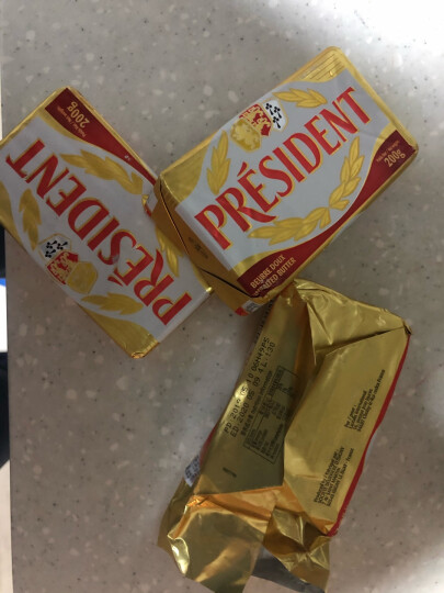 总统(President)发酵型动物淡味黄油块 200g (淡味)烘焙原料 晒单图