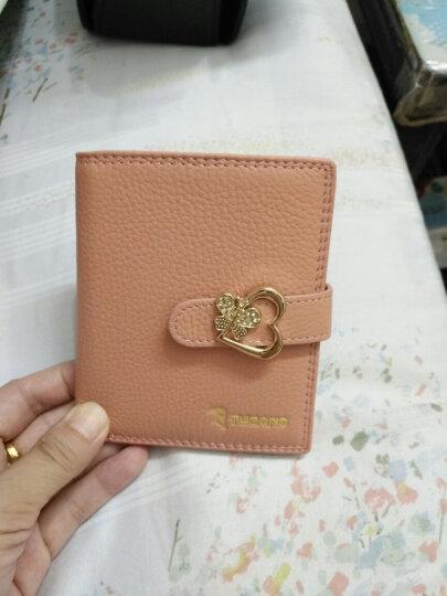 啄木鸟(TUCANO)头层牛皮女士短款钱包蝴蝶结钱夹两折 TAB1722-15R3  竖款粉色 晒单图