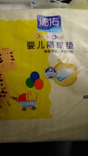 【官方直销】德佑 婴儿隔尿垫一次性护理垫新生儿宝宝床垫透气纸尿垫 1代银装46片装(3-6个月/33*45CM) 晒单图
