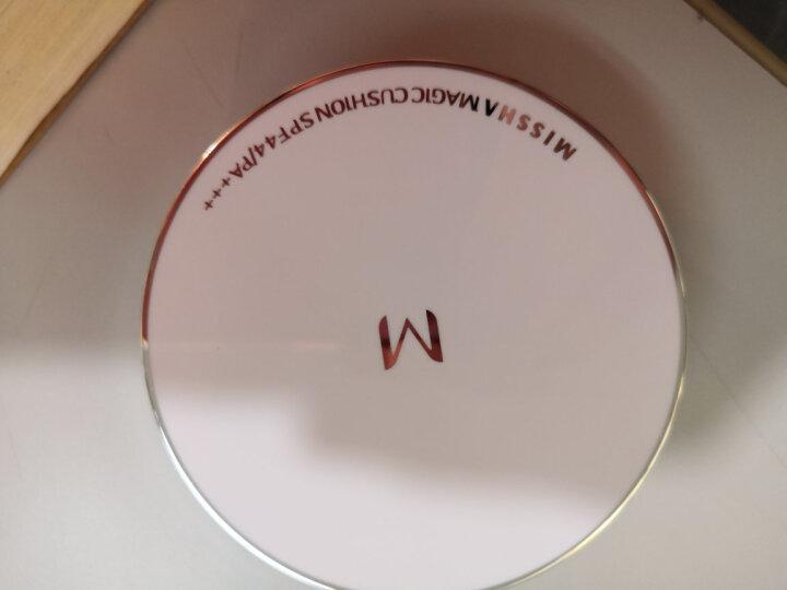 谜尚(MISSHA)魅力水感润采气垫套装SPF45/PA+++ [23号] 15g*3(气垫bb霜防晒霜遮瑕粉底液) 晒单图