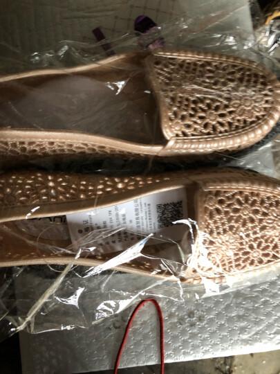 漂步塑料凉鞋女夏防滑平底洞洞鞋纯色镂空护士鞋软底沙滩鞋孕妇妈妈鞋01814 白色 38 晒单图